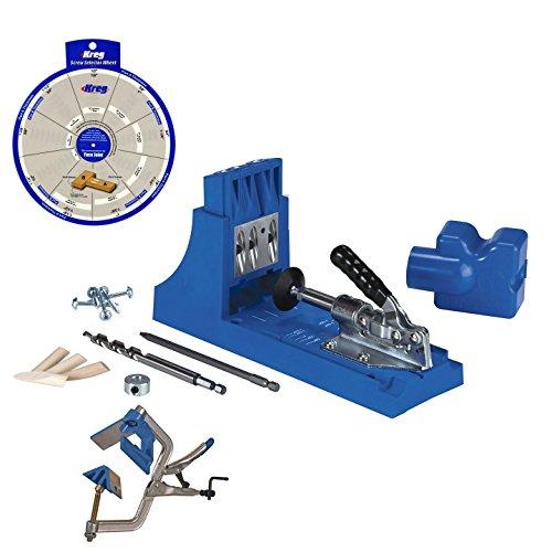 Kreg Jig K4 Pocket Hole System KHC-90DCC Corner Clamp Screw Selector Wheel