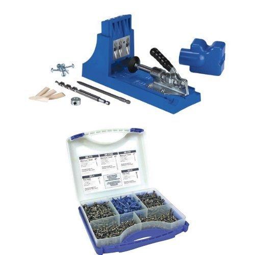 Kreg Jig K4 Pocket Hole System with Pocket-Hole Screw Kit in 5 Sizes