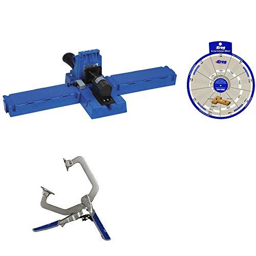 Kreg Jig K5 Pocket Hole System 1 KHC-1410 Clamp SSW Screw Selector Wheel