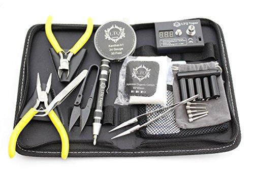 Rda Rta Coil Jig Tool DIY Kit Include Ohm Meter Wire Cotton Ceramic Tweezer Plier Vape LTQ Winder Set
