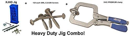 Kreg Tool KJHD Pocket hole jig  screw  clamp combo