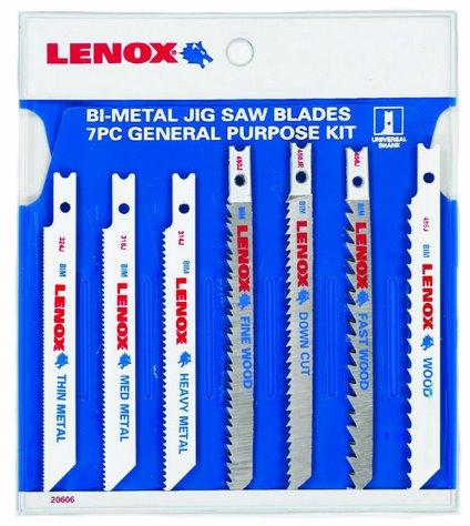 Lenox U743JA Lenox 7-Piece Jig And Saber Saw Blade Assortment