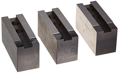 USST KT-8200F Steel Flat Soft Chuck Jaws for 8 CNC Lathe Chucks 2 Tall Set of 3 Pieces