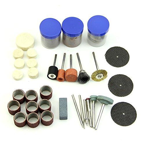 Chunshop 105pcs Drill Bit Rotary Set Kit Grinding Sanding Engraving Polishing Hobby Tool
