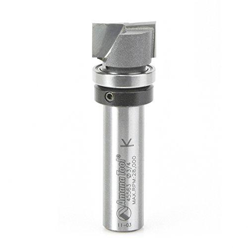 Amana Tool 45563 Carbide Tipped Bottom Cleaning 34 D x 716 CH x 12 Inch SHK w Upper Ball Bearing Upshear Design Router Bit