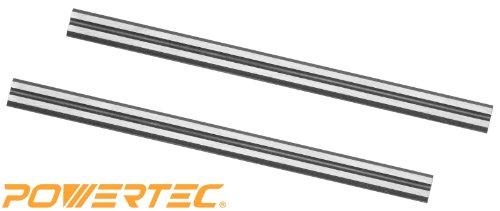 POWERTEC HSS Blades for 3-14 Bosch B&D Craftsman DeWalt Hitachi Ryobi and most Hand-Held Planer