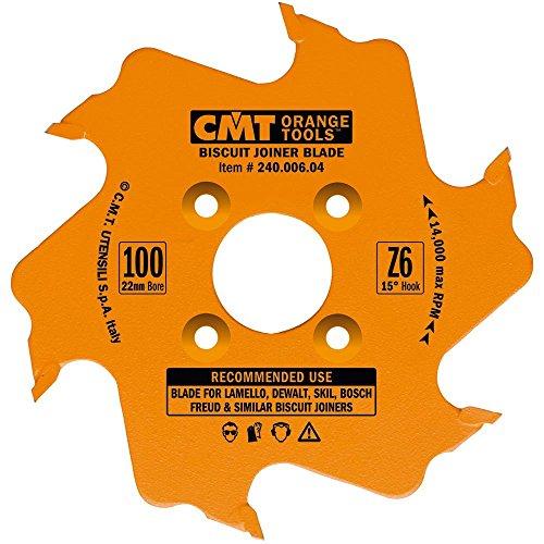 CMT 24000604 Biscuit Joiner Blade 4-Inch Diameter x 6 Teeth PTFE-Coated