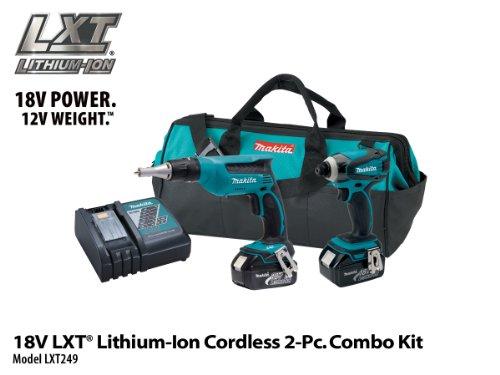 Makita LXT249 18V LXT Lithium-Ion Cordless Combo Kit 2-Piece