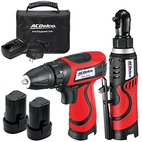 ACDelco ARW804-CB4 8V Li-ion ARW804 14 Ratchet  ARD849 Drill 2 batteriescharger Combo Tool