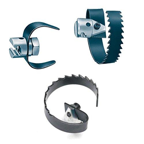 Ridgid 62925 3 Spiral SawTooth Cutter Drain Cleaner Tool Bundle w 52822 3 C-Cutter and 63025 2 Spiral Cutter 3 Pieces