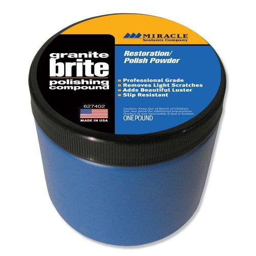 Miracle Sealants GRABRI 1 LB Granite Brite Non-Wax Polishing Compound 1 Pound