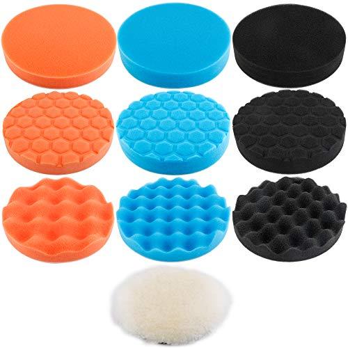 Augshy 10Pcs6 inch Car Foam Drill Polishing Pad Kit3 Styles Buffing Pads¡