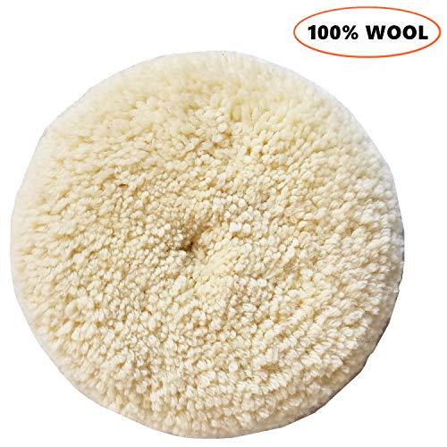 Sisha Wool Polishing Pad 7 Buffing Pad with Hook and Loop Back for Compound Cutting Polishing 100 Natural Wool Thick and Aggressive