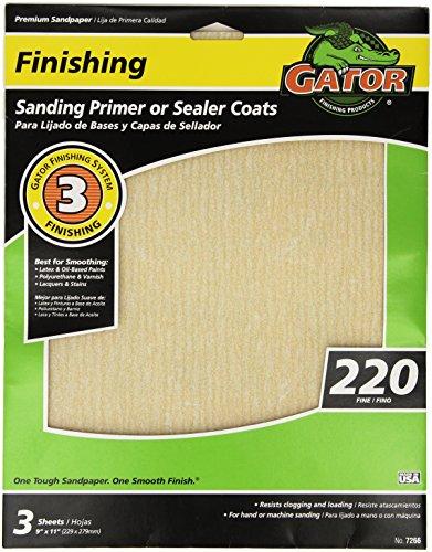 ALI INDUSTRIES 7266 Grit Aluminum Oxide Sanding Sheets 9 x 11