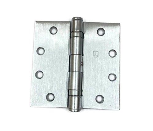 Hager Full Mortise Stainless Steel Hinge BB1191 NRP 45 x 45 US32D630 Satin Stainless Steel - Box of 3 Ball Bearing hinges
