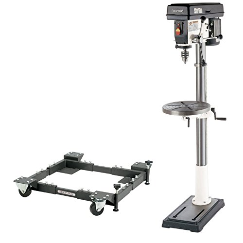 Shop Fox W1680 17-inch 1 HP Floor Drill Press with D2260A Mobile Base