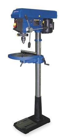 Westward 1KEN6 Floor Drill Press 17 In 1 HP 115V 12A
