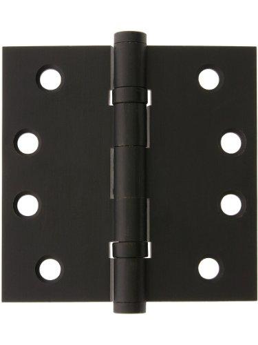 4 Solid Brass Ball Bearing Door Hinge With Button Tips In Oil Rubbed Bronze Brass Door Hinges