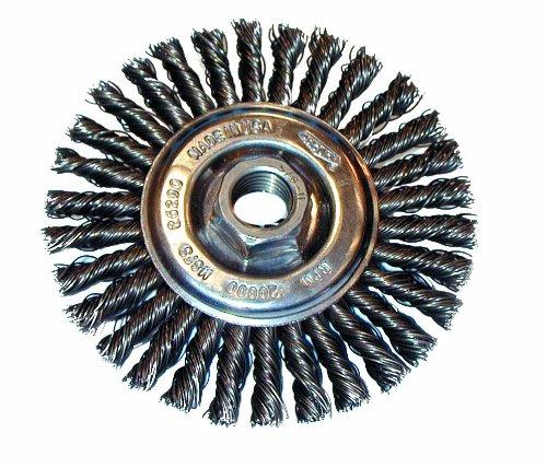 Osborn 26399 High Speed Small Grinder Stringer Bead Wheel Brush Stainless Steel Bristle 20000 RPM 4 Diameter