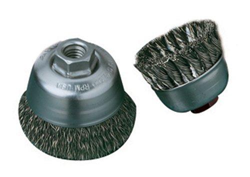 SAIT 06401 2-34 x 014 x 58-11 Arbor Carbon Bristle Crimped Style Angle Grinder Small Cup Brush