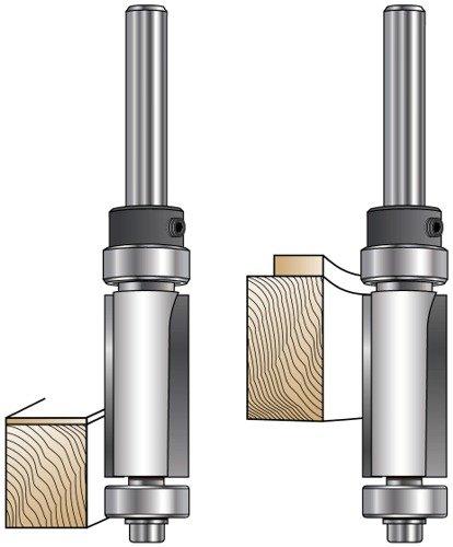 MLCS Top and Bottom Bearing FlushPattern Flush Trim Bit