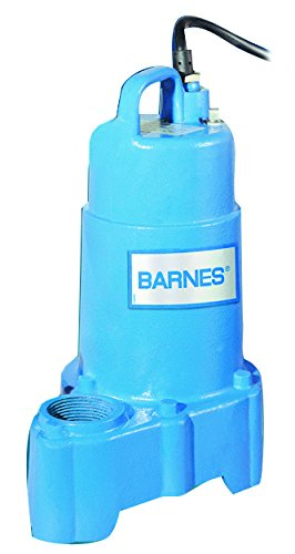 Barnes 112547 Model SP33 Submersible Cast Iron Sump Pump - 13 HP 3000 GPH 10 Cord No Float Switch For Residential Use