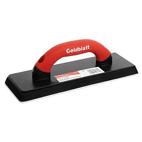 Goldblatt Gum Rubber Grout Float with Soft Grip Handle 4 x 12 Red