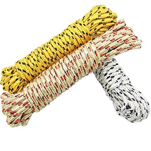 QY 3Bundles Multi-purpose Nylon 65 Meters 213 Ft Clothes Rope String Line Clothesline
