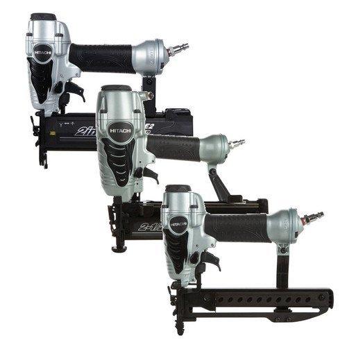 Hitachi KNT65M-50-38 3-Piece Straight Finish Nailer Brad Nailer Crown Stapler Combo Kit