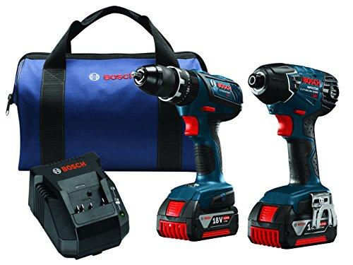 Bosch CLPK237A-181 18V Lithium-Ion Hammer DrillDriver and Impact Driver Combo Kit