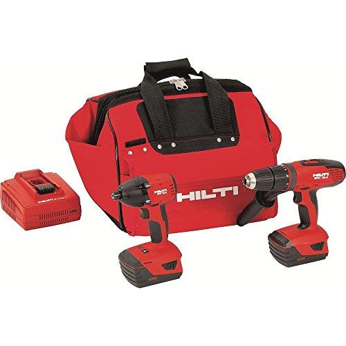 Hilti 3487016 18-Volt Lithium-Ion Cordless Hammer Drill DriverImpact Driver Combo Kit