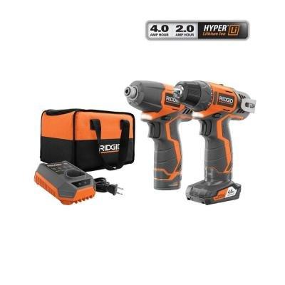 Ridgid R9000K 12-Volt Hyper Lithium-Ion DrillDriver and Impact Driver Combo Kit