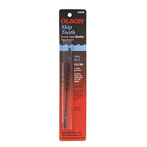 Olson Saw FR44600 Skip Tooth 0038 x 016-Inch 125 TPI Scroll Saw Blade