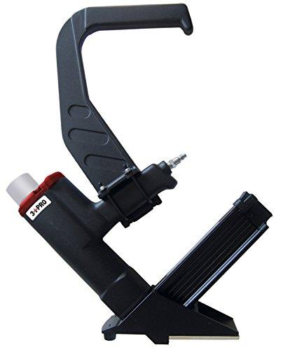 3 PRO FSB 15-Gauge Flooring Stapler 1 12-2-Inch Long BlackRed