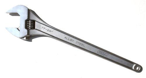 Irega 24 Adjustable Wrench Triple-Chrome Finish 77-24