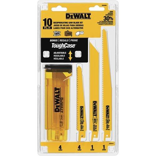 DEWALT Reciprocating Saw Blades Bi-Metal Set with Case 10-Piece DW4898