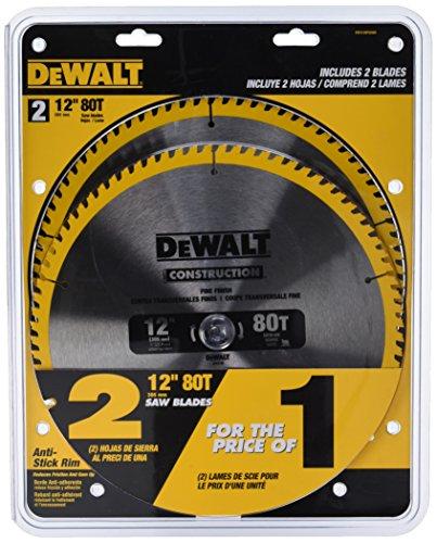 DEWALT DW3128P5D80I Series 20 12-Inch 80T Circular Saw Blade 2-Pack