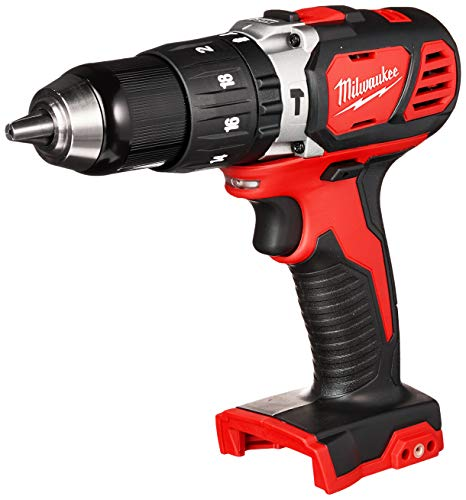 Milwaukee 2607-20 12 1800 RPM 18V Lithium Ion Cordless Compact Hammer Drill  Driver with Textured Grip All Metal Gear Case and LED Lighting Bare Tool