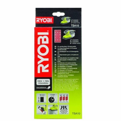 Ryobi TSA10 Assored 13 Sheet Sanding Pads for all 13 Sheet Sanders -Set of 10 by Ryobi