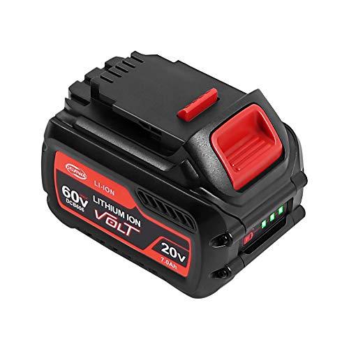 DSANKE DCB606 20V60V MAX 70Ah Lithium Replacement Battery for DeWalt Flexvolt DCB606 DCB612 DCB606-2 DCB609 DCB609-2 DCB204 DCB205 DCB206 20V60V120V MAX Cordless Power Tools