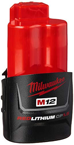 Milwaukee 48-11-2401 Genuine OEM M12 REDLITHIUM 12 Volt 15 Amp Compact Lithium Ion Battery with Overload Protection for Cordless Power Tools