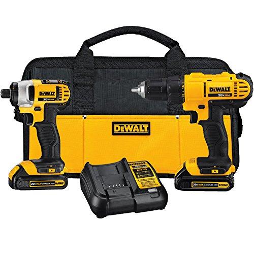 DEWALT 20V MAX Cordless Drill Combo Kit 2-Tool DCK240C2