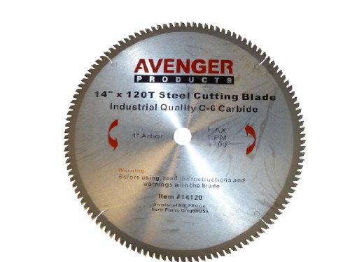 Avenger AV-14120 Steel Cutting Saw Blade 14-inch by 120 tooth1-inch arbor C-6 TCG