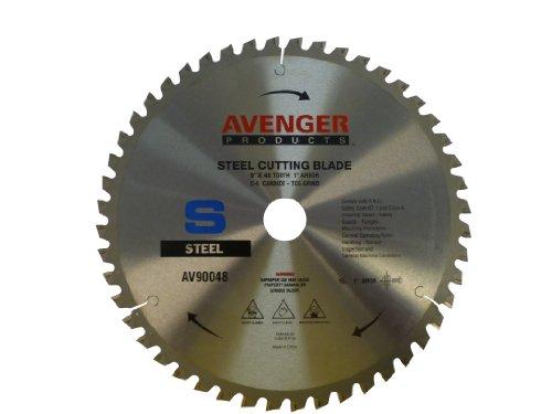 Avenger AV-90048 Steel Cutting Saw Blade 9-inch by 48 tooth1-inch arbor C-6 TCG