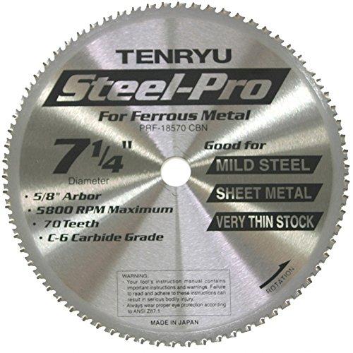 Tenryu PRF-18570CBN 7-14 Thin Steel Cutting Saw Blade 70T 58 Arbor