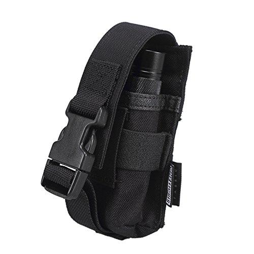 OneTigris MOLLE Flashlight Holster 1000D Nylon Tool Belt Pouch Accessory Holder Black