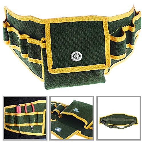 SCASTOE Canvas Tool Pouch Holder Electrician Mechanic Waist Pocket Belt Work Holder Bag