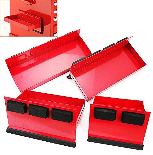 Rison4pc Magnetic Toolbox Tray Set Tool Box Cabinet Side Shelf Storage Van Workshop
