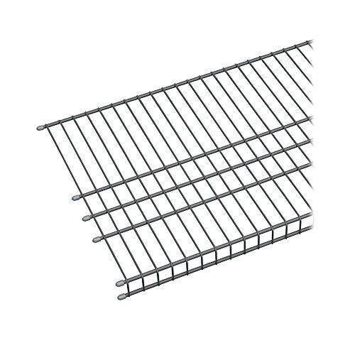 ClosetMaid 73571 Maximum Load 6ft by 16in Garage Wire Shelf Satin Chrome