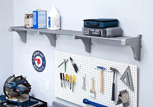 EZ SHELF - Garage Shelf Up to 63 ft of Storage Space - Silver